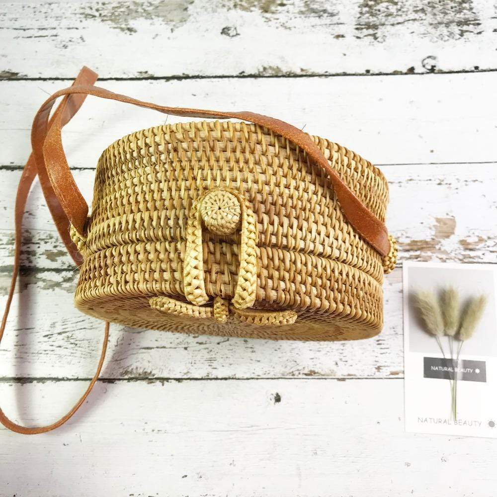 Kissbella Women's Bohemian Hand Woven Bag with Butterfly Buckle Best Vegan Fashion Beauty