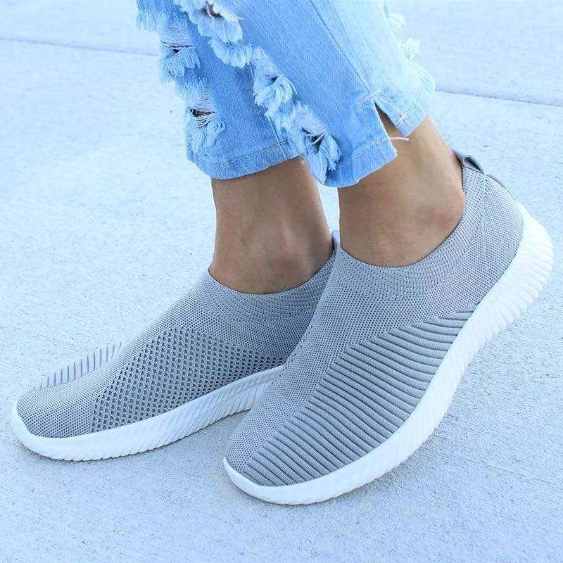 Kissbella Women's Flats Women Knitted Spring Summer Orthopedic Vegan Slip On Flat Shoes Best Vegan Fashion Beauty