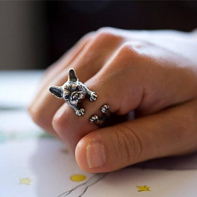 French Bulldog Unisex Punk Ring - Orelio Store