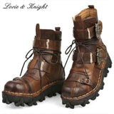 Genuine Leather Biker Boots