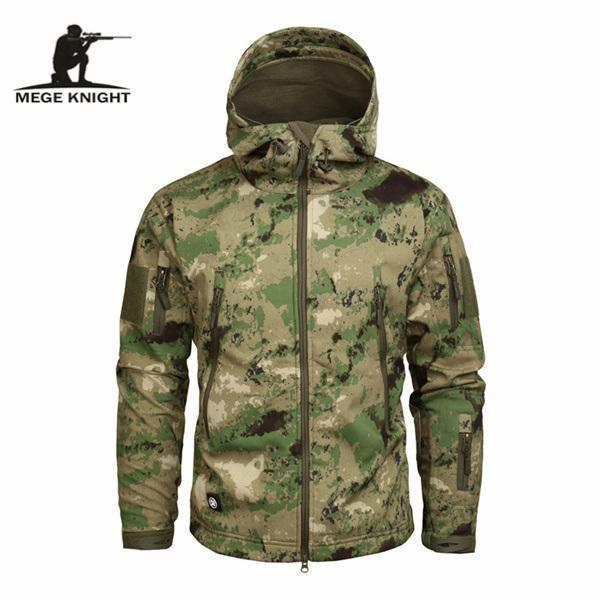 Men's Military Camouflage Jacket Army Tactical Windbreaker