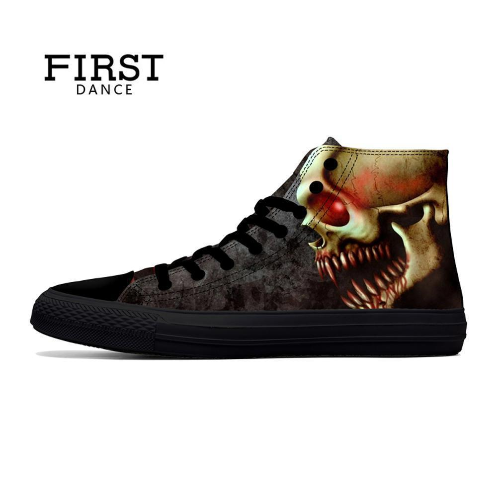 Skull Canvas Shoes