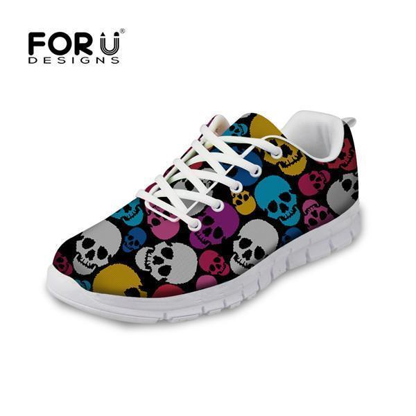 Women Skull Design Flat Shoes
