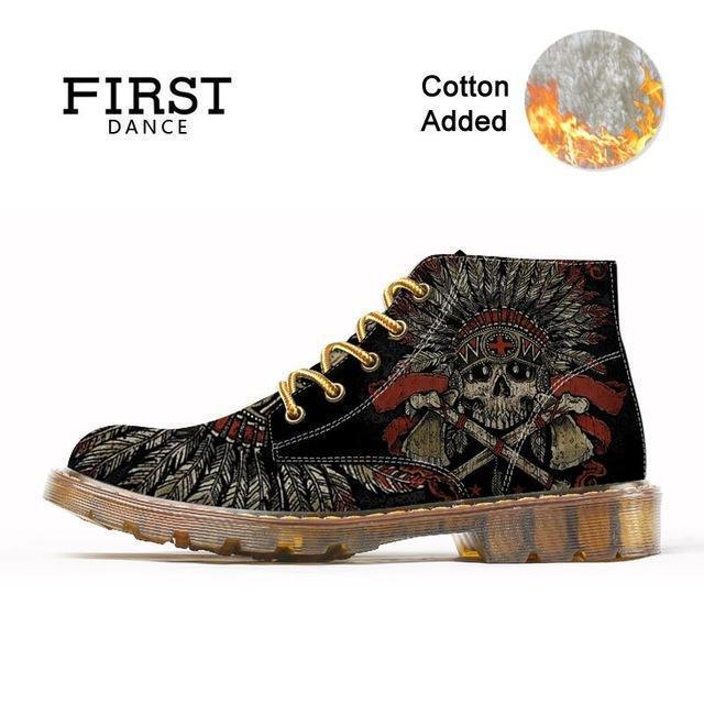 2018 Wood Bottom Skull Shoes