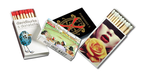 18 Stick Matchboxes [3 Color Imprint]