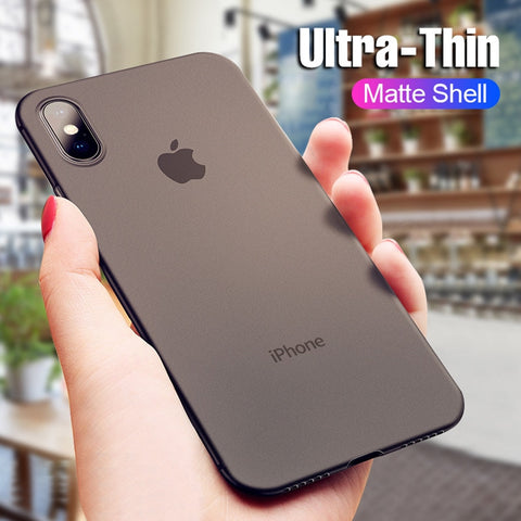 Ultra Thin Matte Phone Case For iphone