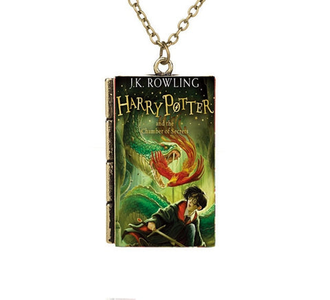 Harry Potter TINY Book Cover Pendant Necklace