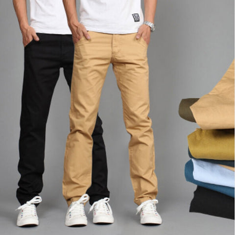 Cotton Slim Pant Straight Trouser
