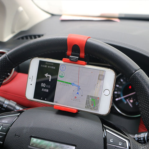 Universal Car Steering Wheel Mount iPhone and Samsung