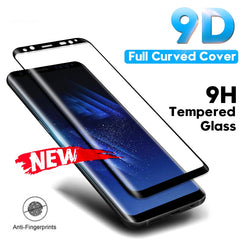 Tempered Glass Film For Samsung Galaxy Note 8 9 S9 S8 Plus S7 Edge 9D