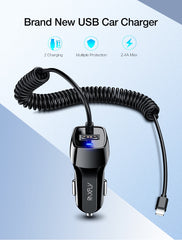 Car Charger For Samsung and iPhone