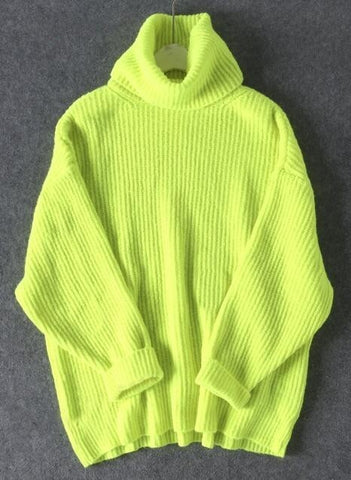 Women Turtleneck Oversized Sweater