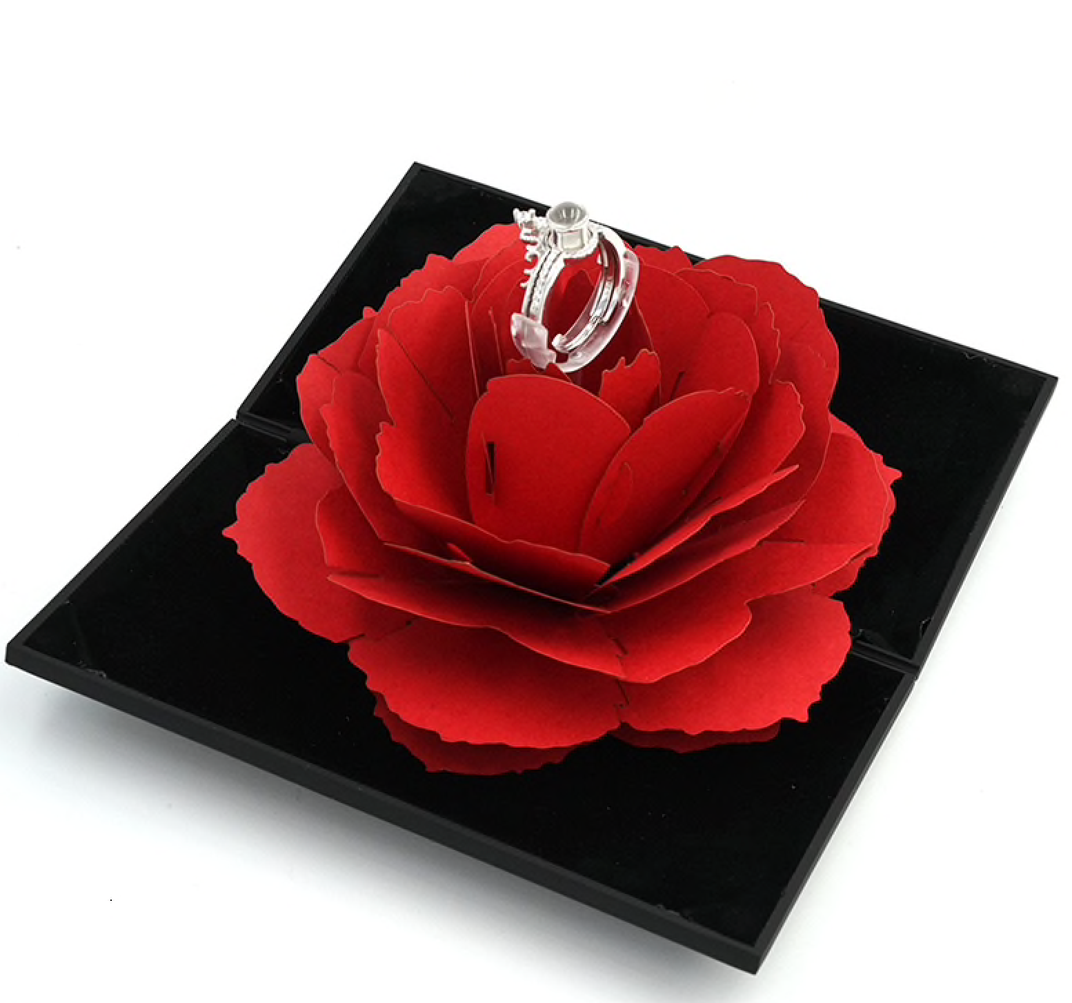 I Love You Ring With Flower Box