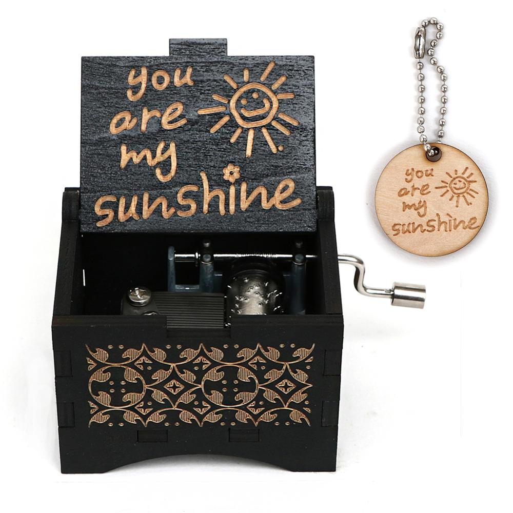 Hand carved you are my sunshine music box