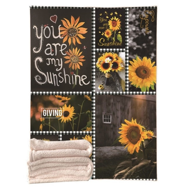 You Are My Sunshine Sunflower Blanket