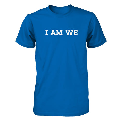 I Am We - Print on Front in White - Male T-Shirt - Crosstree