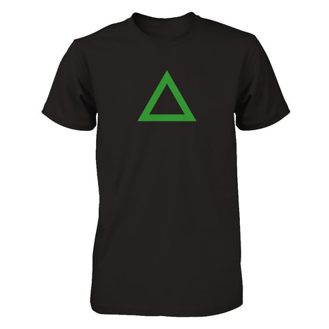 Triangle - Print on Front in Green - Male and Female T-Shirt - Crosstree