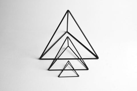 Tetrahedron Frames - Set of 3 - Crosstree