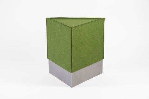 Triangular Prism Stool with Felt Cover - Crosstree