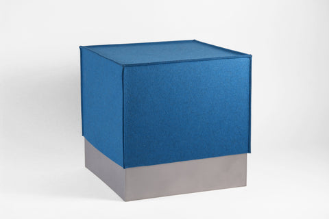 Square Prism Stool with Felt Cover - Crosstree