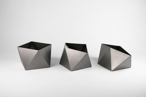 "Square Antiprism Tabletop Pod - 3"" to 5"" - Set of 3 - Crosstree"