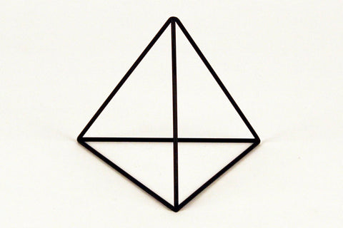 "Tetrahedron Frame - Round Bar - 11"" to 15"" - Crosstree"