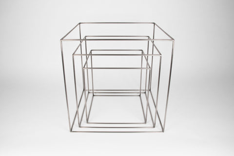 "Cube Frames - Set of 3 - 12"" to 18"" - Silver - Crosstree"