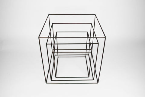 "Rental - Cube Frames - 12"" to 18"" - Set of 3 - Black - Crosstree"