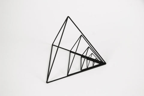 "Rental - Tetrahedron Frames - 1"" to 8"" - Set of 5 - Black - Crosstree"