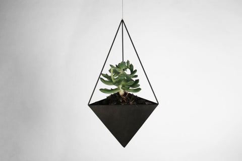 "Triangular Bipyramid Hanging Planter - 6"" to 10"" - Crosstree"