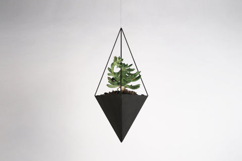 "Triangular Bipyramid Hanging Planter - 3"" to 5"" - Crosstree"