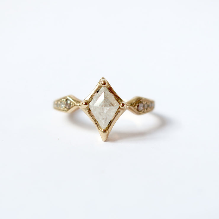 White Diamond Kite Ring