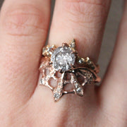 Diamond Web Ring In Rose Gold