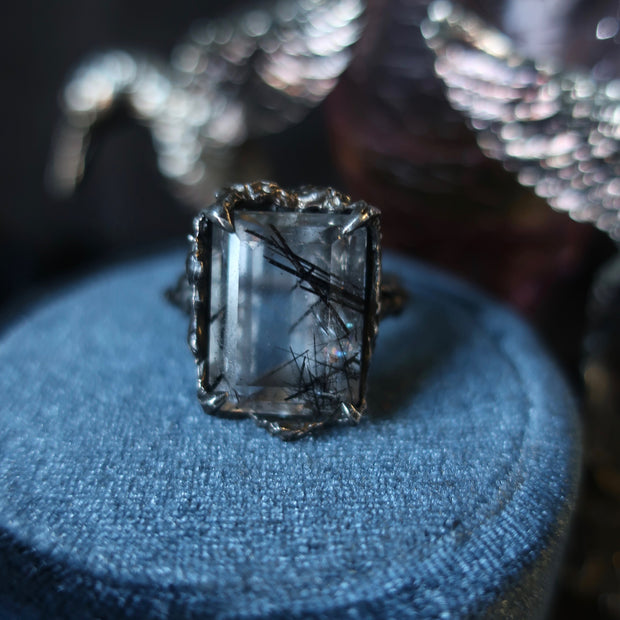 Large Cocktail Ring Rutilated Quartz