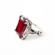 Large Cocktail Ring Garnet