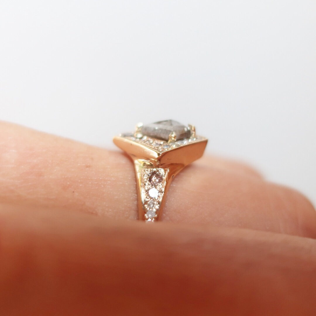 Champagne Toast Engagement Ring