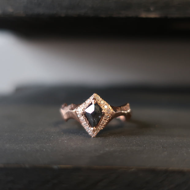 Rose Gold Kite Diamond Ring