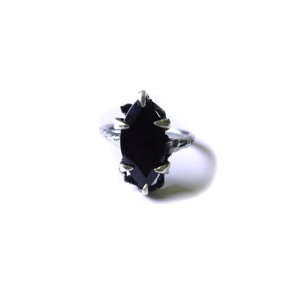 Large Onyx Marquise Ring