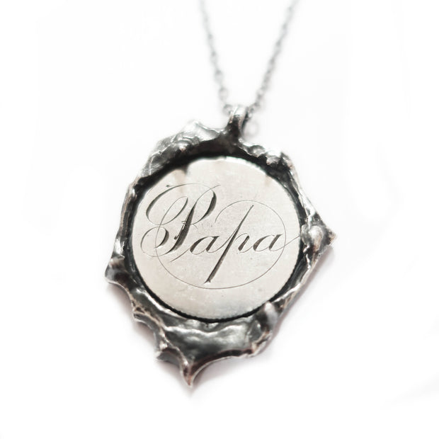 Papa Love Token Necklace