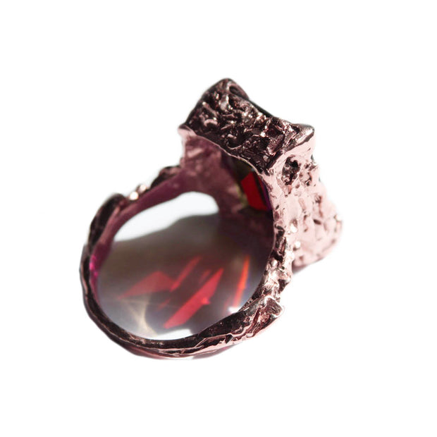 Gold Garnet Cocktail Ring