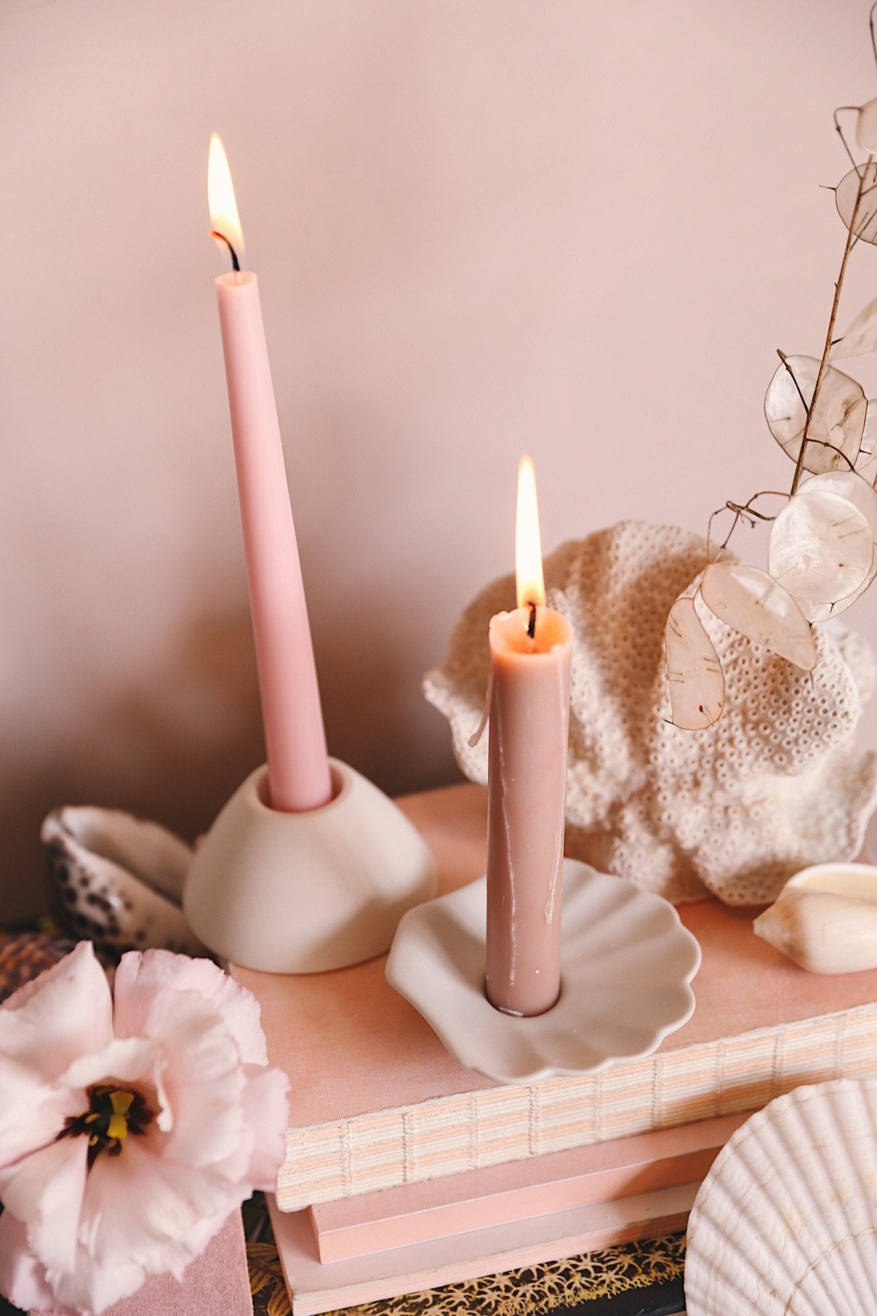 Oh Flora Store | Nilaveli Candle Holder | Beige Blush - Oh Flora Store