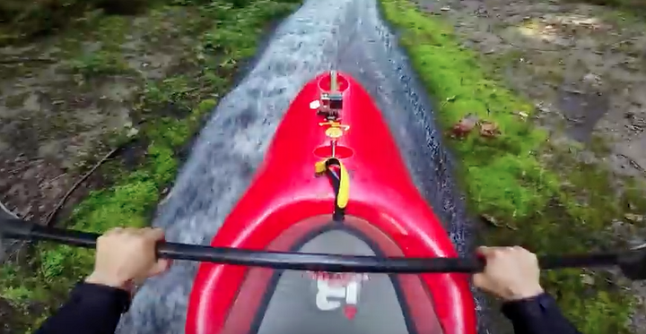 TANDEM KAYAK DOWN DITCH IS INTENSE