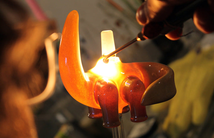 Artist Elbo fired up about glassblowing