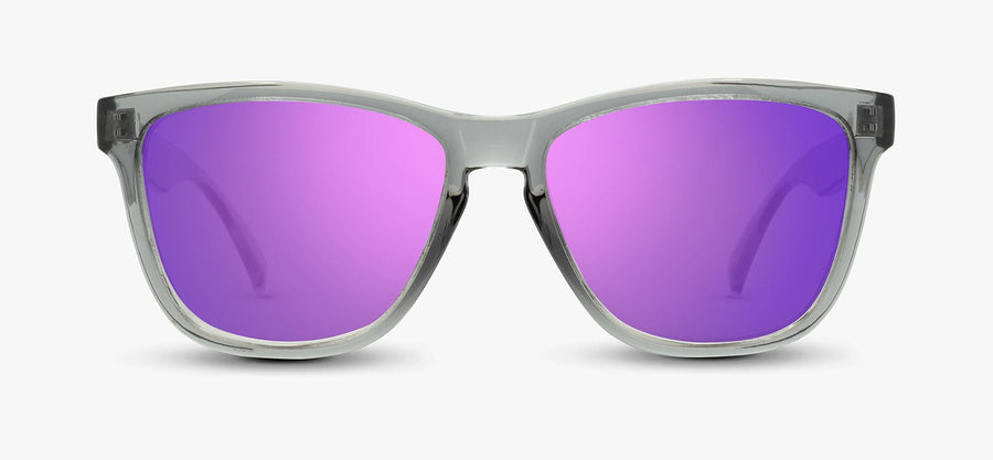 Transparent Grey Frame - Purple Lens