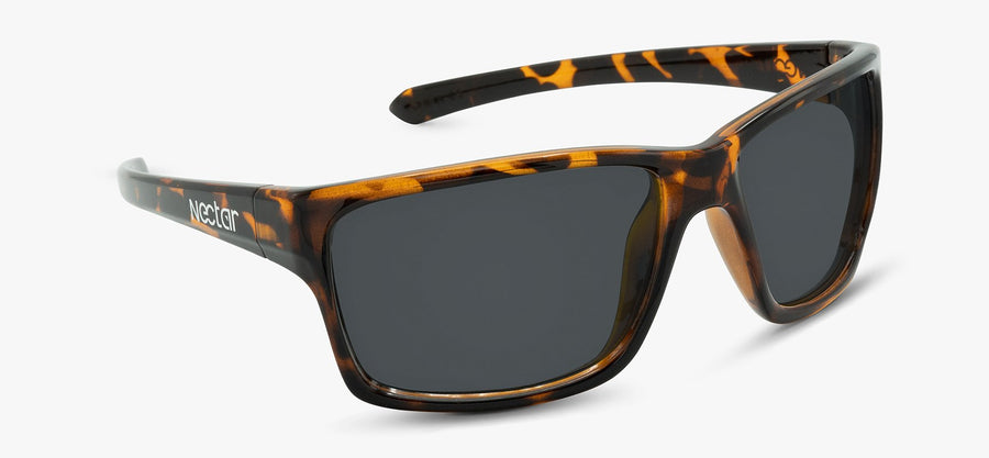Brown Tortoise Frame - Black Lens