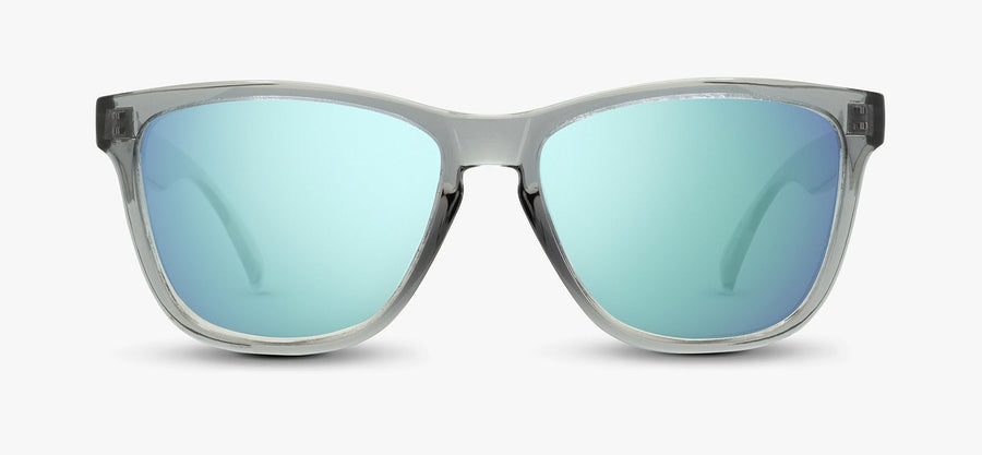 Transparent Grey Frame - Blue Lens