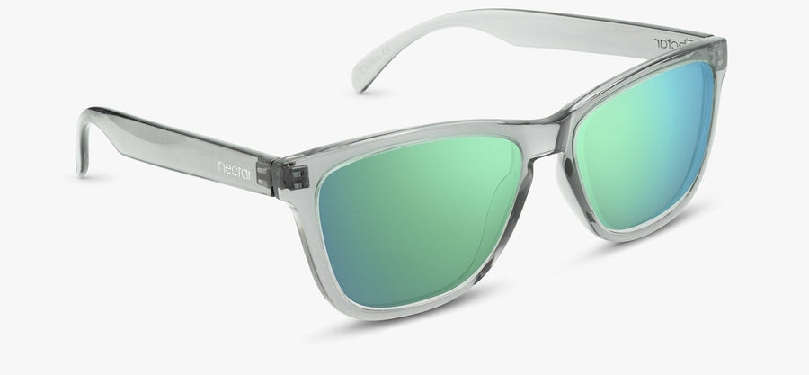Transparent Grey Frames - Green Lens