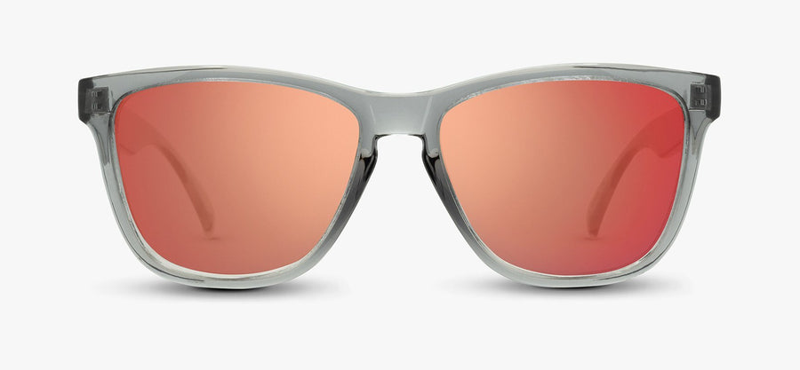 Transparent Grey Frames - Red Lens