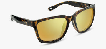 Brown Tortoise Frame - Gold Lens