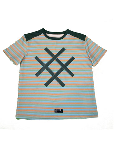 Striped Lucid FC Logo Tee